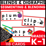 Blends and Digraphs Cards for Sound Segmenting