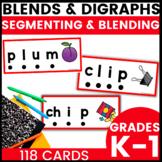 Phoneme Segmentation Cards Blends and Digraphs