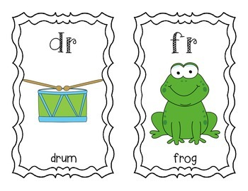 Blends and Digraphs Chart and Flashcards