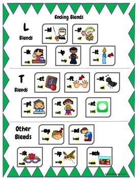 Blends and Digraphs Charts and Flashcards
