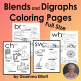 Blends and Digraphs Coloring Pages - No Prep Printables