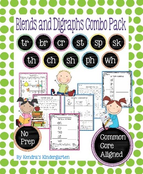 Blends and Digraphs Combo Pack - No Prep, Common Core Aligned