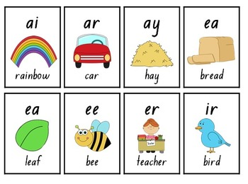Blend and Digraph Flashcards - 336 Cards!