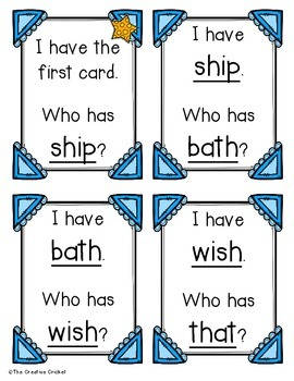 Blends and Digraphs I Have Who Has - 5 Games Included!