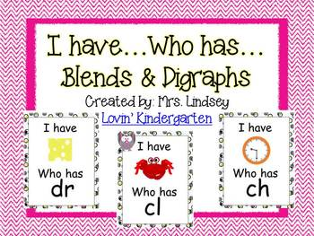 Blends and Digraphs ~ I Have...Who Has?