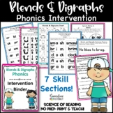 Reading Intervention Binder Blends and Digraphs | Independent Work Packets