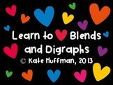 Blends and Digraphs Language Arts Center Word Game