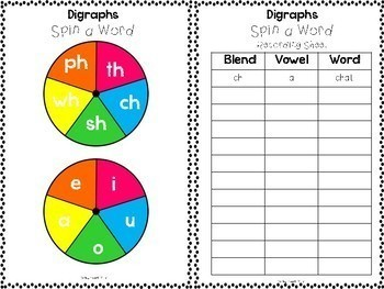 Blends and Digraphs Literacy Centers