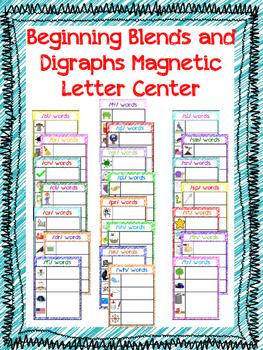 Blends and Digraphs Magnetic Letter Center
