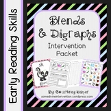 Blends and Digraphs Phonics Intervention Packet {Chant, Posters & Worksheets}