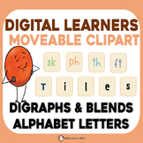MOVABLE Clipart Blends and Digraphs Moveable Phonics Lette
