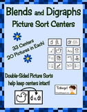 Blends and Digraphs Picture Sorting Centers Set of 33 Literacy Centers
