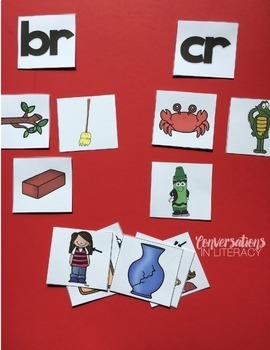 Picture Cards Blends and Digraphs for Guided Reading Literacy Centers