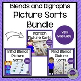 Blends and Digraphs Picture Sorts Bundle