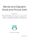 Blends and Digraphs Picture and Word Sorts