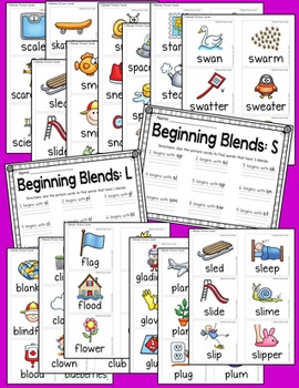 Blends and Digraphs Pocket Chart Pack {no prep centers}