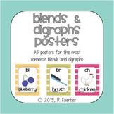 Blends and Digraphs Posters - Bohemian Feather Theme