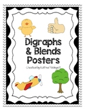 Blends and Digraphs Posters - Grey Chevron