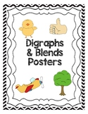 Blends and Digraphs Posters - Multicolored Chevron