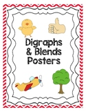 Blends and Digraphs Posters - Red Chevron