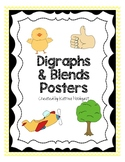 Blends and Digraphs Posters - Yellow Chevron