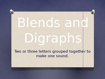 Blends and Digraphs PowerPoint