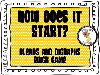 Blends and Digraphs Quick Games