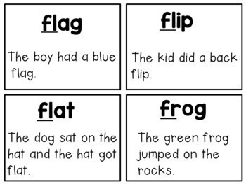 Blends and Digraphs Cards with Sentence Reading