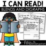 I Can Read Blends and Digraphs Reading Fluency Passages | Seesaw
