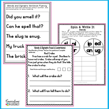 Blends and Digraphs Reading Intervention Binder FREE
