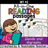 Blends and Digraphs Reading Passages ~ All-in-One Set TWO|