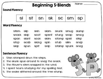 Blends and Digraphs {Reading, Sorting, and Building}