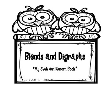 Blends and Digraphs Seek and Record Book - D'NEALIAN print