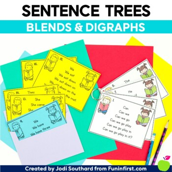 Blends and Digraphs Sentence Trees {Fluency Practice}