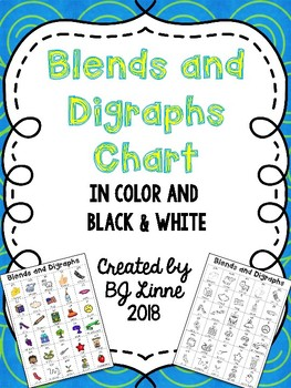 Blends and Digraphs Student Chart