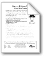 Blends and Digraphs Word Machines: aw/ea (long e)