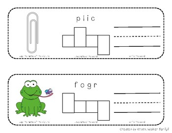 Literacy Center: Blends and Digraphs Word Scramble