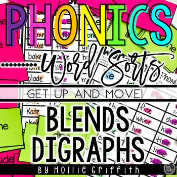 Blends and Digraphs Word Sorts {Get up and MOVE!}