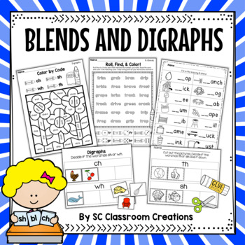 Blends and Digraphs Word Work Set