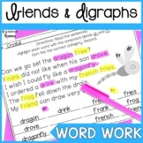 Blends and Digraphs Word Work Worksheets