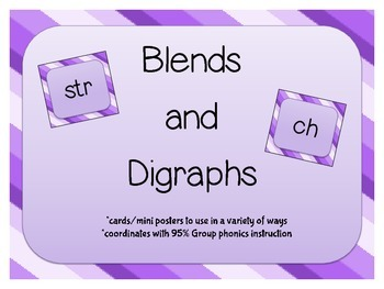 Blends and Digraphs cards / mini posters