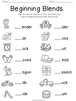 Blends And Digraphs {freebie} By Mrs Leeby Teachers Pay Teachers Second Grade Worksheets Consonant Clusters Blends And Digraphs {freebie}