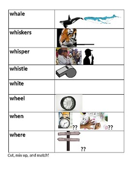 Blends and Digraphs, packet two