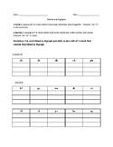 Blends and Digraphs worksheet