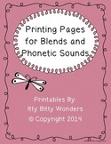 Blends and Phonetic Sounds Printing Pages