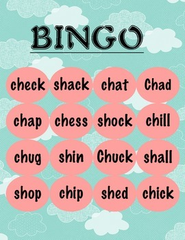 Phonics Blends ch-, th-, wh-, and sh- Activities and Flashcards