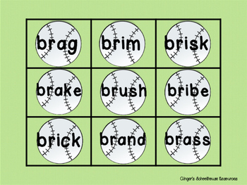 Blends for Baseball, Part 1: Decoding Game -  bl, cl, gl, & fl