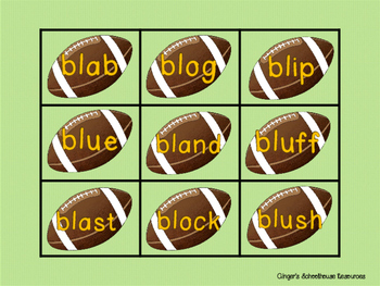 Blends for Football, Part 1: Decoding Game -  bl, cl, gl, & fl