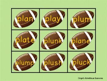 Blends for Football, Part 1: Decoding Game -  cl, gl, pl, & fl