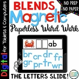 Blends Digital Word Work Cards- Paperless Phonics Centers for Google Use